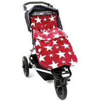Теплый конверт в коляску Buggysnuggle Stars Red / White