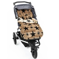 Теплый конверт в коляску Buggysnuggle Stars French Beige