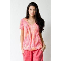 "Топ для кормления Mothers en Vogue ""Slouchy Pleated"" Peach Melba"