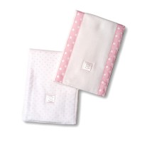 Полотенчики SwaddleDesign Baby Burpie Set Pstl Pink Dot