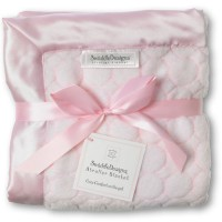 Плед детский SwaddleDesigns Stroller Blanket Pstl Pink Puff C