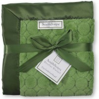 Плед детский SwaddleDesigns Stroller Blanket Pure Green Puff C