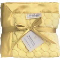 Плед детский SwaddleDesigns Stroller Blanket Yellow Puff Circle