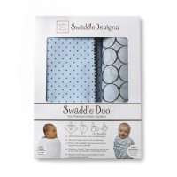Набор пеленок SwaddleDesigns Swaddle Duo Pstl Blue Modern
