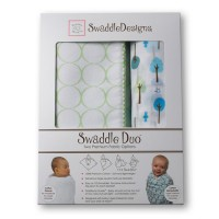 Набор пеленок SwaddleDesigns Swaddle Duo KW Cute& Wild