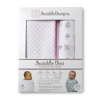 Набор пеленок SwaddleDesigns Swaddle Duo PK Peace/LV/SW