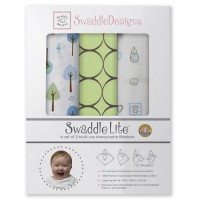 Набор пеленок SwaddleDesigns SwaddleLite Cute& Calm Kiwi