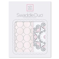 Набор пеленок SwaddleDesigns Swaddle Duo Pink Mod Medallion
