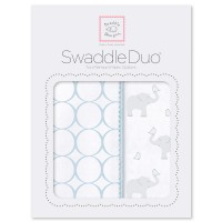 Набор пеленок SwaddleDesigns Swaddle Duo PB Elephant& Chickies Mod Duo