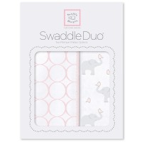 Набор пеленок SwaddleDesigns Swaddle Duo PP Elephant& Chickies Mod Duo