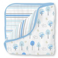 Муслиновое одеяло SwaddleDesigns Luxe Muslin Blue Forest