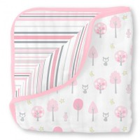 Муслиновое одеяло SwaddleDesigns Luxe Muslin Pink Thicket