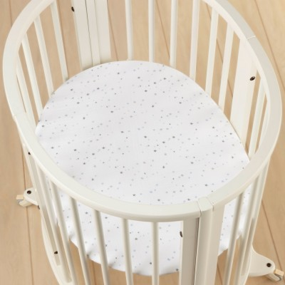 Простыня на резинке из муслинового хлопка для люльки STOKKE Night Sky (66x46cм)