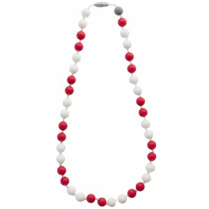 Жевательные бусы Itzy Ritzy Round Bead Game Day Red