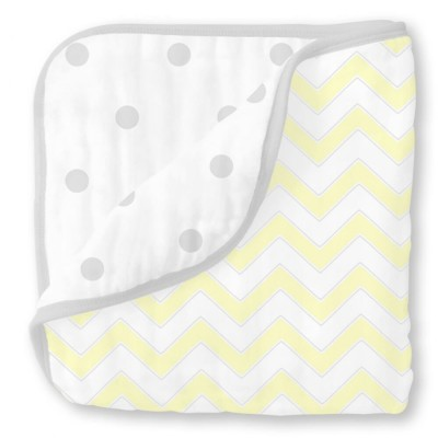 Муслиновое одеяло SwaddleDesigns Luxe Muslin Pale Yellow Chevron